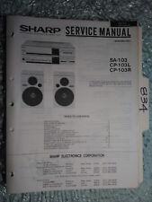 Sharp Cp Sa-103 L R service manual original repair book stereo receiver radio