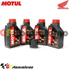 TAGLIANDO OLIO + FILTRO MOTUL 7100 10W50 HONDA 500 CB S 2000
