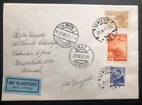 1935 Vienna Austria Airmail Registered cover To Liebenau Germany Via Graz #C20