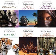 Lotto 6 libri NUOVI - Pacchetto CLASSICI EMILIO SALGARI - raccolta stock libri