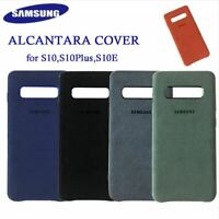100% Original Samsung Galaxy S10 S10+ S10e  Cover Leather Alcantara Genuine Case