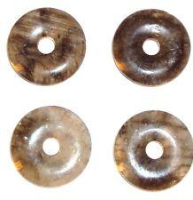 P553 Labradorite 25mm Flat Round Donut Spectrolite Gemstone Pendant Bead 1pc