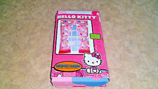 "Hello Kitty ""How Sweet It Is"" Microfiber Window Panels (Panels & Tie-Backs) NEW"