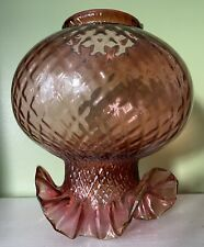 More details for large hand blown oil lamp shade