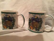 SET OF 2 HILO HATTIE Kauai Hawaii Island Moonlight Ocean Coffee Mugs (2002) NEW