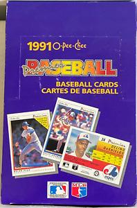1991 O-Pee-Chee Premier Baseball Cards MLB 36 SEALED Packs of 7 Chipper Jones RC
