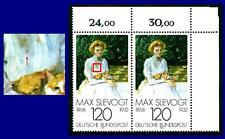 988 f 4 ** (Max Slevogt) postfrisch, Paar mit Vergleichsstück