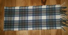 James Pringle Weavers Plaid Neck Fringe Scarf Made in Scotland Lambswool PERFECT