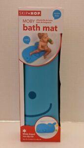 Skip Hop MOBY Baby Bath Mat Non-Slip Suction Base 29 x 16 Whale Shape NEW
