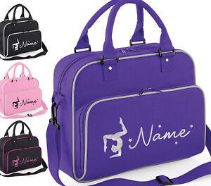 Personalised Gymnastics Dance Bag Childrens Girls Glitter Gym Kit School Case
