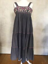 Radley Of London Vintage Grey Dress With Embroidery Size 12 (label) - see below