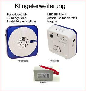 Funk Klingel Erweiterung Funkklingel f. bestehende Klingelanlage Batteriebetrieb