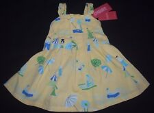 NWT Girls Gymboree Pool Party Dress Size 12-18 Months Yellow Summer 2 pc Set