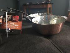 NEW Baumalu Hammered Copper Cast Iron Sauce Pan Pot