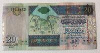 Libya Banknote. 20 Dinar. 2003 Series. Pick 67a. Circulated Libyan Note.