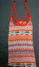 2132a71c0c8cd Womens No Boundaries Red Multicolor Crossback Tribal Tank Top-Size  S (3