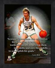 "LARRY BIRD ~ 8x10 Color Pro Quote Photo Picture ~ Framed 9x11 ~ ""Winner"""
