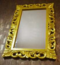 New Hand Crafted Golden Foil Finish Wall Mirror Frame For Home Decoration