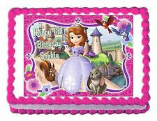 SOFIA the first princess party decoration cake topper cake image frosting sheet