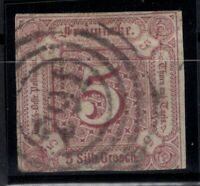 T4286/ GERMANY – THURN & TAXIS – MI # 18 USED SIGNED RASCHE – CV 350 $
