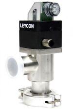 OERLIKON LEYBOLD BAV 25 P SS Leycon Vakuum Eckventil ISO-KF DN25