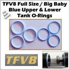 6 - TFV8 Full Size / Big Baby Blue Tank Set Orings ( ORings O-Rings smok Seals )