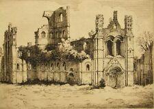 Original etching 'Kirkstall Abbey' pencil signed; Henry Jackson