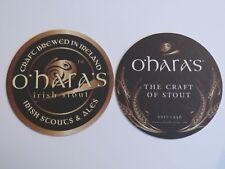 Beer Brewery Coaster ~ O'HARA'S Irish Stout ~ Carlow Brewing, IRELAND Since 1996