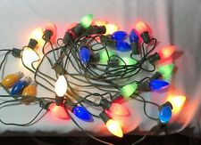 Penetray Christmas Lights String 25 count C9 C-9  WORKING Extra bulbs vintage