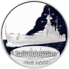 Tuvalu 2007 Battleships of World War II HMS Hood $1 Pure Silver Dollar Proof