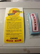 Power Products Lightweight AH-47 Decal Grafton Wis Mixture Left Choke Directions