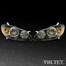 2005-2008 Toyota Corolla Headlight Lamp Set of 2 Clear lens Halogen2008 Pair