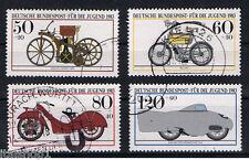 GERMANIA 4 FRANCOBOLLI PRO GIOVENTU MOTO JUGEND 1983 usato
