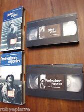 Lotto 2 VHS Professione Reporter Antonioni Michelangelo Jules e Jim Truffaut