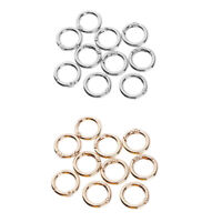 10pc Round Carabiner Spring Key Ring Buckle,Spring Snap Hooks Clip for Purse