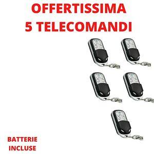 5 TELECOMANDI PER CANCELLO SERRANDA AUTOMATICO UNIVERSALE 433,92 MHZ UNIVERSALE