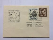 SWEDEN  pre-paid cover 25 Ore 1969 uprated to Johannesburg