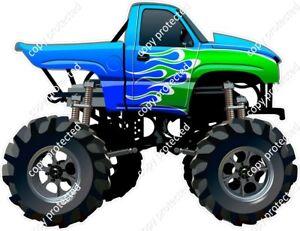 Monster Truck Blue Ute Funny Car Bumper Sticker 180mm Ipad Tablet Laptop 4x4 V9