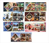 DISNEY  2013  14 SOUVENIR SHEETS IMPERFORATED toy story mermaid cars wall-e