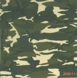"Bandanna on Camouflage Black 100% Cotton #563 Handmade 21""X21"""