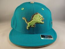 Detroit Lions NFL Reebok Fitted Cap Hat Size 7 3/4 Teal