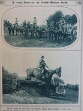 1917 HORSE SHOW ON THE WESTERN FRONT ARTILLERY MULE TEAM SHOW JUMPING WWI WW1