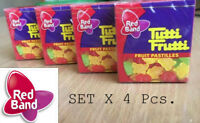 4 x Jelly Fruit Pastilles Gummy Candy Pack Tutti Frutti Gummi Red Band Candies