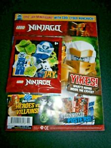 LEGO Ninjago Magazine Issue 69 With Jay Mini-Figure With Cool Cyber Nunchuck