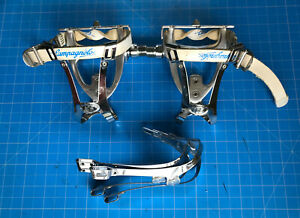 Campagnolo Record C Aero Road Pedals.  Vintage. Used. + Two Pair ICS Toe Cages