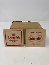 NOS Set of 50 Plus Vintage Schmidt's Of Philadelphia 2 Sided Bar Coasters