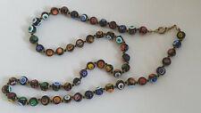 Vintage Italian Millefiori Glass Beads Necklace