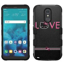 for LG Stylo 4 Armor Impact Hybrid Cover Case Hello Kitty #L
