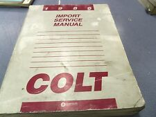 1986 Dodge Colt Factory Service Manual L@@K FREE Shipping!!