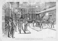 GYMNASIUM CENTRAL TURN VEREIN 1890 ANTIQUE GYMNASTICS RINGS ATHLETIC EXERCISE